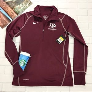 Nike Texas A&M Track & Field Half Zip 1/4 Sweater
